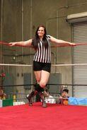 Terra Calaway as a referee