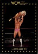 1991 WCW Collectible Trading Cards (Championship Marketing) Lex Presses Ric 36