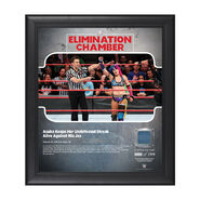 Asuka Elimination Chamber 2018 15 x 17 Framed Plaque w Ring Canvas