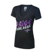 Paige Think Again Tri-Blend Women's V-Neck T-Shirt