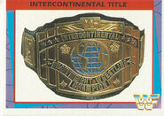 1995 WWF Wrestling Trading Cards (Merlin) Intercontinental Title 43