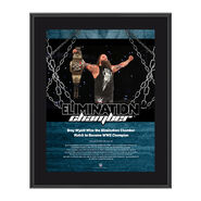 Bray Wyatt Elimination Chamber 2017 10 x 13 Commemorative Photo Plaque