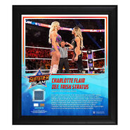 Charlotte Flair SummerSlam 2019 15 x 17 Framed Plaque w Ring Canvas