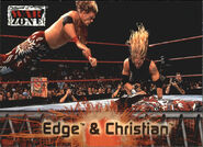 2001 WWF RAW Is War (Fleer) Edge & Christian 55