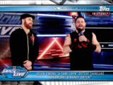 2019 WWE Road to WrestleMania Trading Cards (Topps) Kevin Owens & Sami Zayn (No.65)