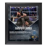 Bray Wyatt Survivor Series 2016 15 x 17 Framed Plaque w Ring Canvas