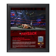 The Hardy Boyz Payback 2017 15 x 17 Framed Plaque w Ring Canvas