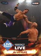 2013 TNA Impact Wrestling Live Trading Cards (Tristar) AJ Styles 75
