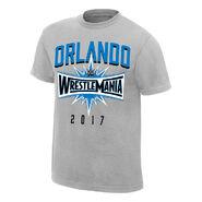 WrestleMania 33 Sport Silver T-Shirt