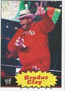 2012 WWE Heritage Trading Cards Brodus Clay 8