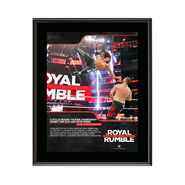 AJ Styles Royal Rumble 2018 10 x 13 Commemorative Photo Plaque