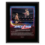 Daniel Bryan BackLash 2018 10 x 13 Photo Plaque