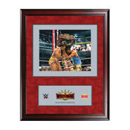 Kofi Kingston WrestleMania 35 16 x 19 Ring Canvas Print Plaque
