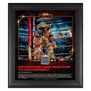 Kofi Kingston WrestleMania 35 15 x 17 Framed Plaque w Ring Canvas