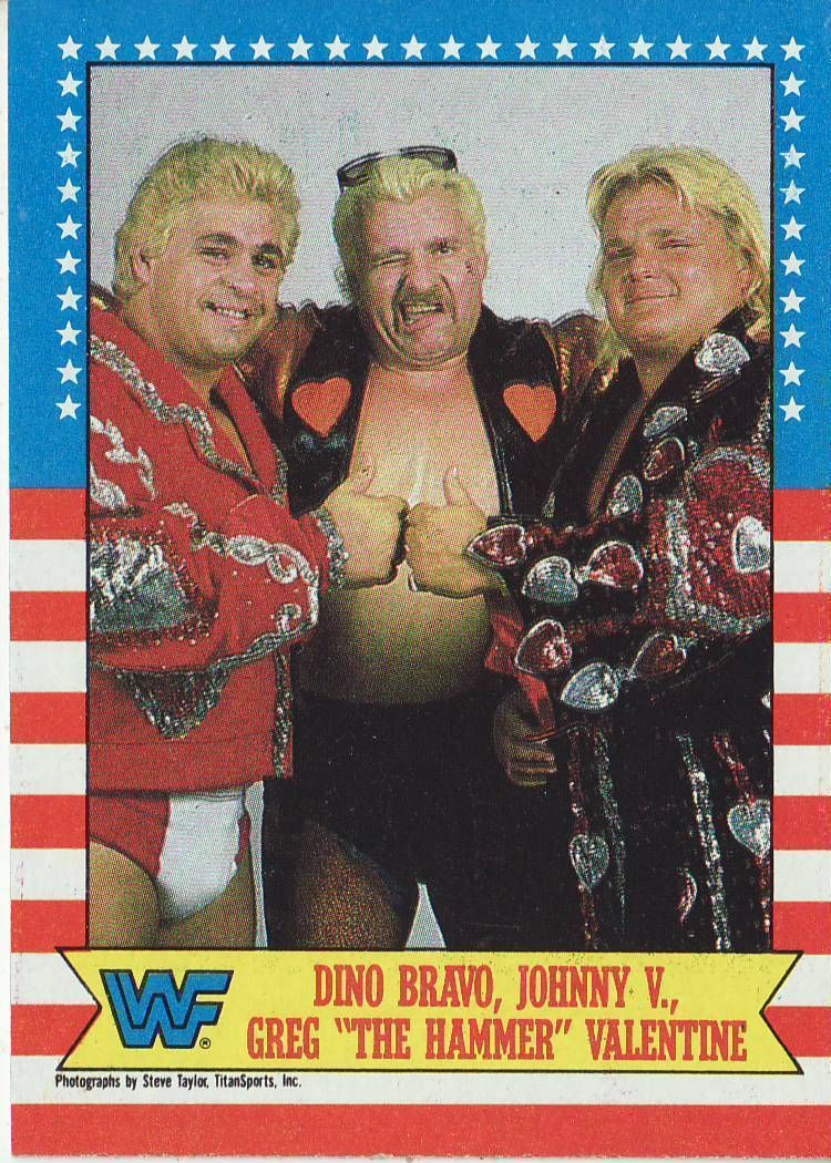 1987 Wwf Wrestling Cards Topps Dino Bravo Johnny Valentine Greg