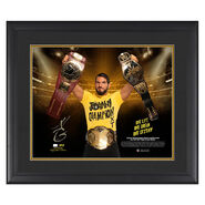 Johnny Gargano First NXT Triple Crown Winner Signed 20 x 24 Plaque