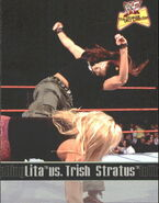 2001 WWF The Ultimate Diva Collection (Fleer) Lita vs. Trish Stratus 83