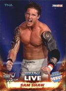 2013 TNA Impact Wrestling Live Trading Cards (Tristar) Sam Shaw 79