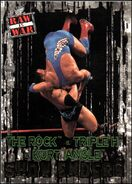 2001 WWF RAW Is War (Fleer) The Rock vs. Triple H Kurt Angle 95