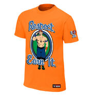 John Cena Respect. Earn It. Orange Youth Authentic T-Shirt