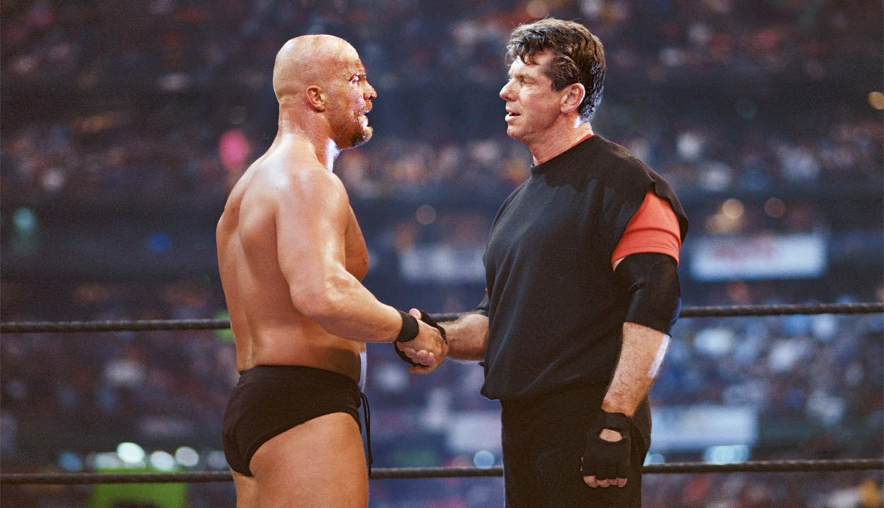 Image result for austin and mcmahon handshake
