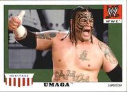 2008 WWE Heritage IV Trading Cards (Topps) Umaga 53