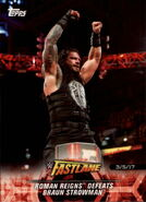 2018 WWE Road to Wrestlemania Trading Cards (Topps) Roman Reigns 15