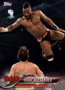 2018 WWE Wrestling Cards (Topps) Cedric Alexander 22