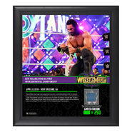 Seth Rollins WrestleMania 34 15 x 17 Framed Plaque w Ring Canvas