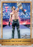 2020 WWE Countdown to WrestleMania (Topps) Seth Rollins Wins the WWE Championship (No.16)