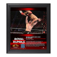 Brock Lesnar Royal Rumble 2019 15 x 17 Framed Plaque w Ring Canvas