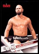 2017 WWE Wrestling Cards (Topps) Karl Anderson 21