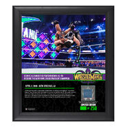 Cedric Alexander WrestleMania 34 15 x 17 Framed Plaque w Ring Canvas