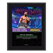 Jinder Mahal WrestleMania 34 10 x 13 Photo Plaque