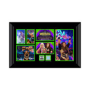 Nia Jax WrestleMania 34 Signed Commemorative Plaque