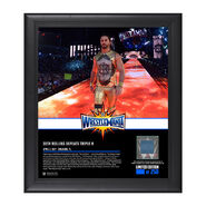 Seth Rollins WrestleMania 33 15 x 17 Framed Plaque w Ring Canvas