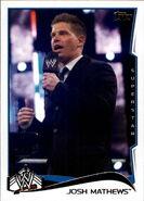 2014 WWE (Topps) Josh Matthews 76