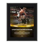 AJ Styles Clash of Champions 2017 10 x 13 Commemorative Photo Plaque