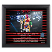Asuka TLC 2018 15 x 17 Framed Plaque w Ring Canvas