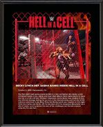 Becky Lynch Hell in a Cell 2019 10 x 13 Commemorative Plaque