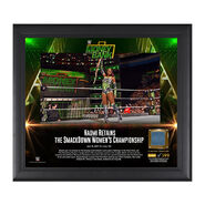 Naomi Money in the Bank 2017 15 X 17 Framed Plaque w Ring Canvas