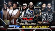 New Day vs. The Bar vs. The Usos TLC 2018