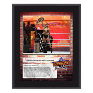 Ronda Rousey SummerSlam 2018 10 x 13 Commemorative Plaque