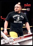 2017 WWE Wrestling Cards (Topps) Samoa Joe 83