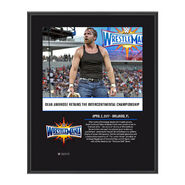 Dean Ambrose WrestleMania 33 10 X 13 Commemorative Photo Plaque