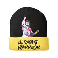 Ultimate Warrior Cuffed Knit Beanie Hat