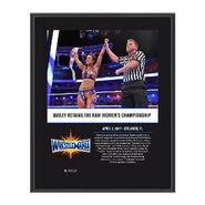 Bayley WrestleMania 33 10 X 13 Commemorative Photo Plaque
