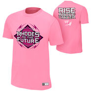 Cody Rhodes Rise Above Cancer Pink T-Shirt