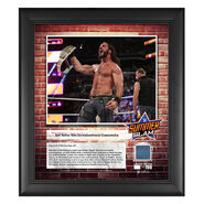 Seth Rollins SummerSlam 2018 15 x 17 Framed Plaque w Ring Canvas