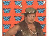 1987 WWF Wrestling Cards (Topps) Sticker Outback Jack (No.11)